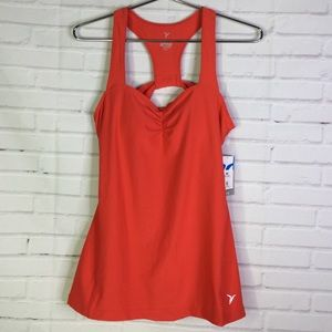 Old Navy Active Sz L Red Racerback Active Tank Top